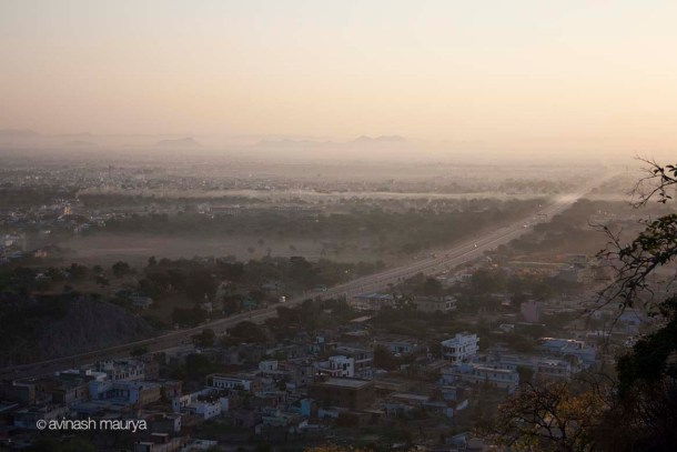 View of Jaipur from Chulgiri Temple
